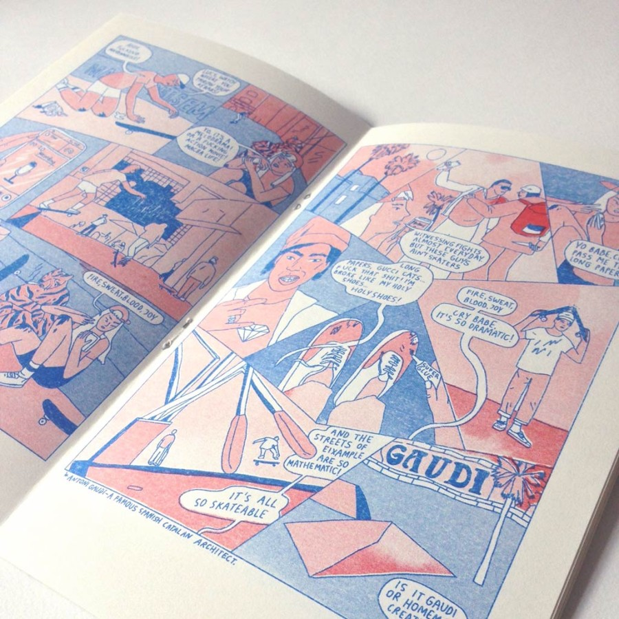 """Riso zine """"Lucy the confused girl and Barcelona"""""""