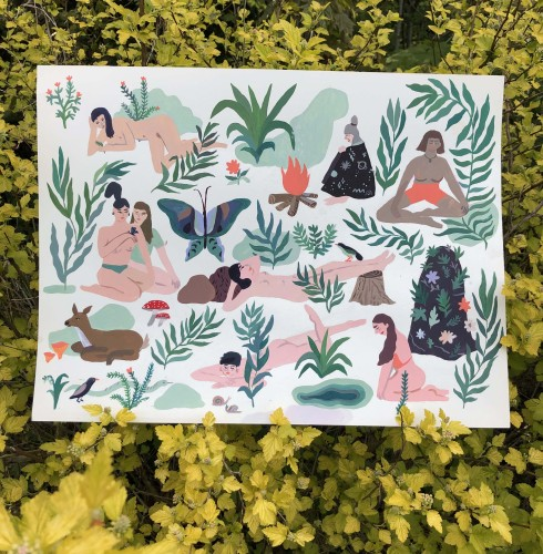 ✫ Babes and the nature print ✫