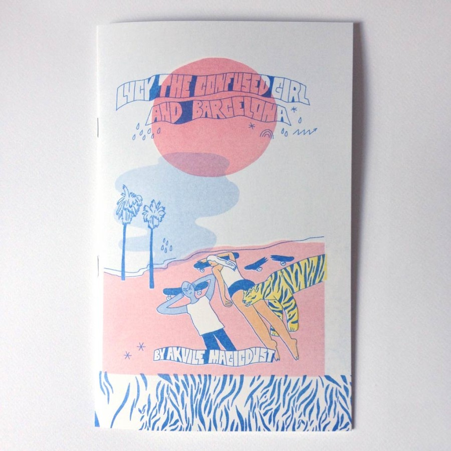 "Riso zine ""Lucy the confused girl and Barcelona"""
